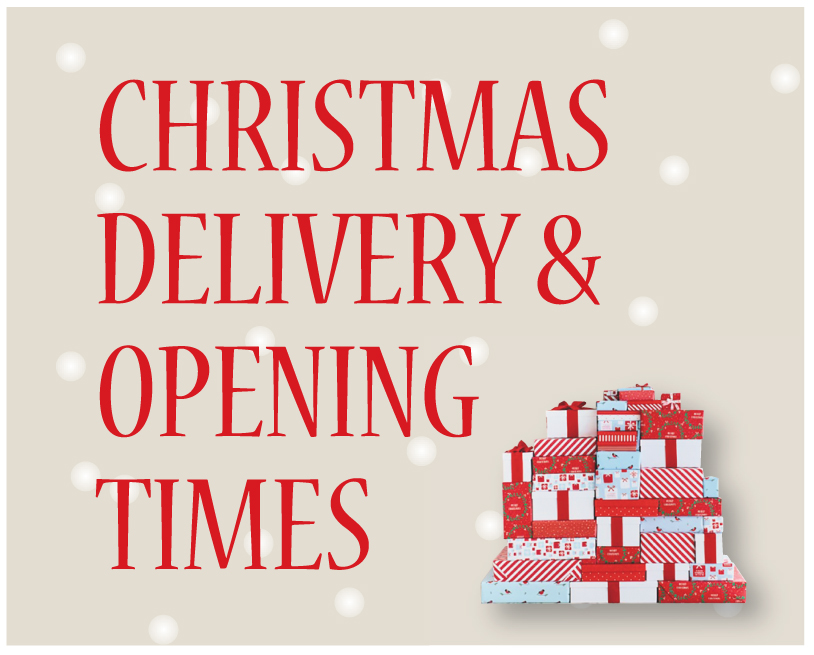 Christmas Delivery & Opening Times 2016