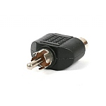 Phono Adaptor 2 RCA skts to 1 RCA plug